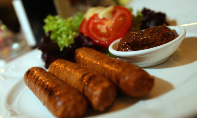 The merguez sausages.