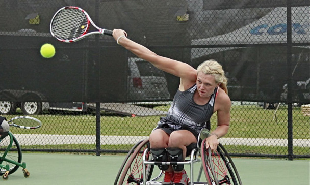 Wheelchair tennis grand slam champion Jordanne Whiley.