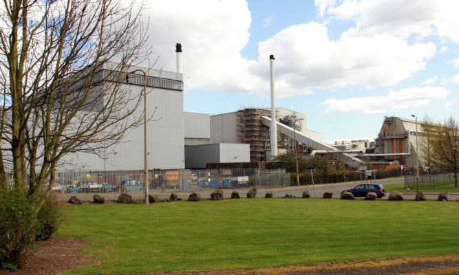 The DERL waste-to-energy plant at Baldovie.