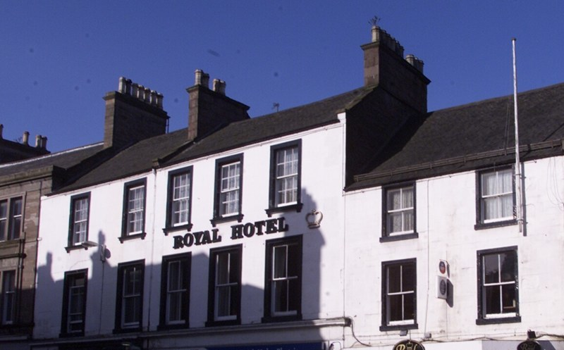 D Jamieson tele features 18/4  Royal Hotel Forfar.