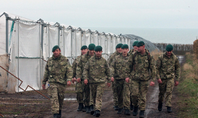 Marines involved in the search.