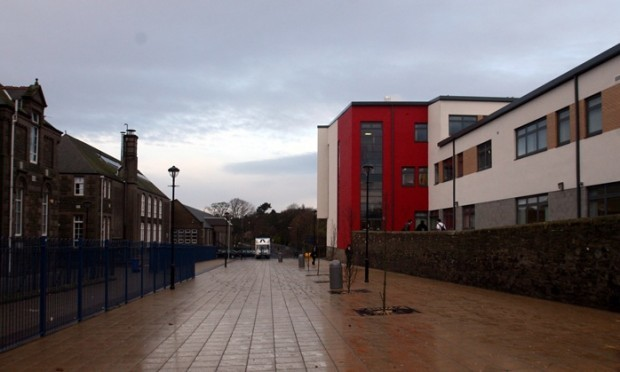 Grove Academy, Broughty Ferry, Dundee - The new building is put into sole use for the first time - the old and the new