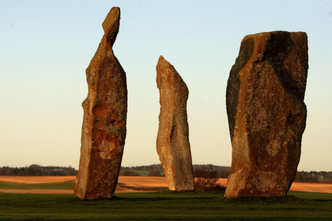 Courier country is blessed with an abundance of ancient stones of immense historical interest. In Saturdays Courier Weekend magazine we take a look at the stories behind some of the most significant, chosen by Marianna Lines, author of the book Sacred Scotland. This photo shows the stones at Lundin Ladies Golf Club at Lundin Links.