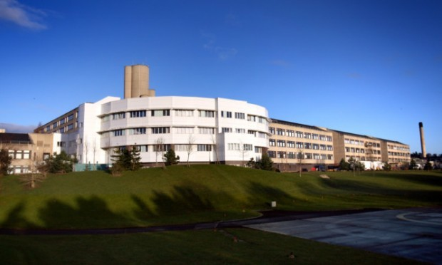 Kris Miller, Courier, 10/12/12. Picture today shows Ninewells Hospital where a pensioner went missing prompting fears for her safety.