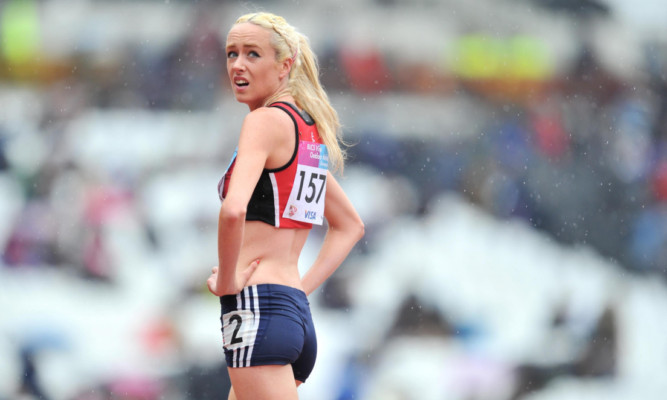 Eilish McColgan after finishing second in the Women's 1500m during the Universities and Colleges Sports Championships at the Olympic Stadium in London last May.