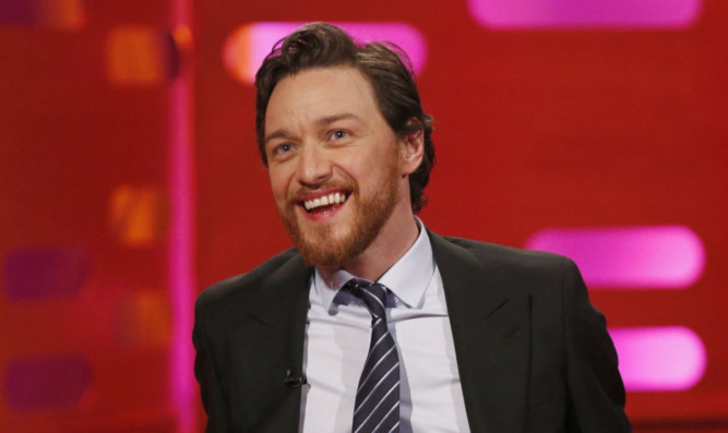 James McAvoy during the Graham Norton Show.