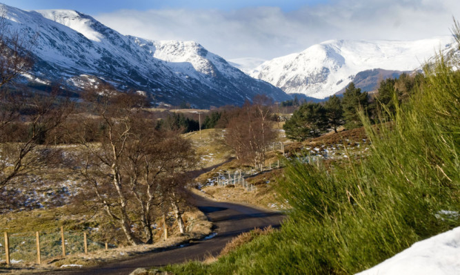 Glen Clova, part of the Cairngorms National Park.