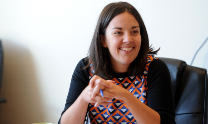 Kezia Dugdale in Dundee on Monday.