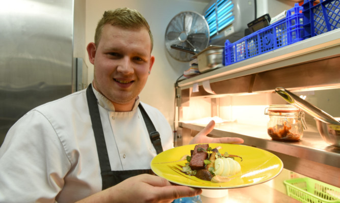 vAdam Newth, head chef at the Castlehill Restaurant in Dundee, is one of the finalists looking to be named Game Chef of the Year.