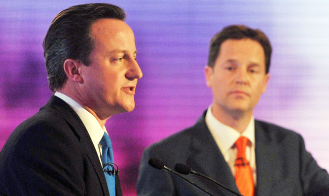 David Cameon and Nick Clegg took part in the nation's first ever televised election debates in 2010