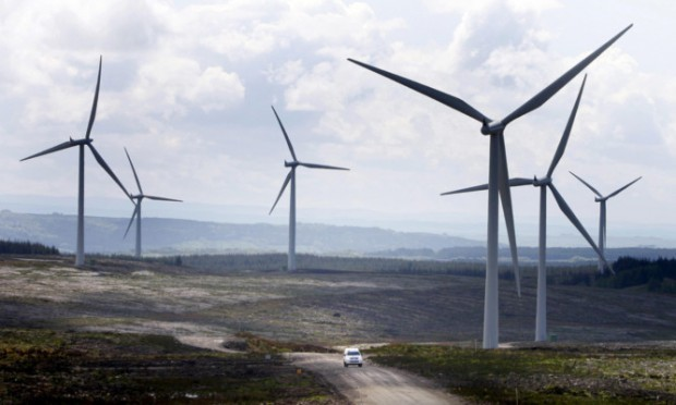 Investment in onshore windfarms in Scotland rocketed last year.