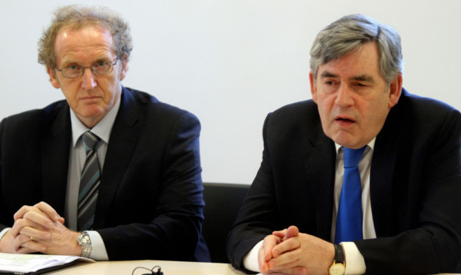 Lindsay Roy (left) with fellow Fife MP Gordon Brown. Neither is seeking re-election in May.