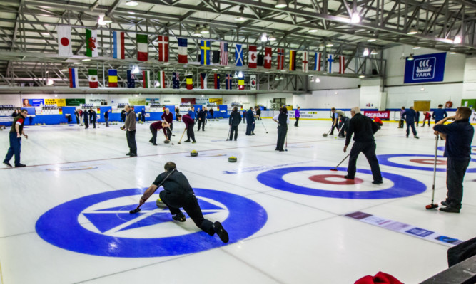 Over 300 curlers are taking part in the event at the Dewar's Centre.