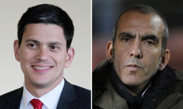David Miliband (left) is leaving his role at the Premier League club after Paolo Di Canio was appointed manager.