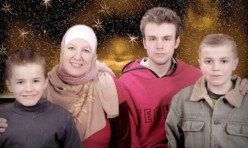 Jannah Reid with sons Hashem, Jalal and Ridwaan.
