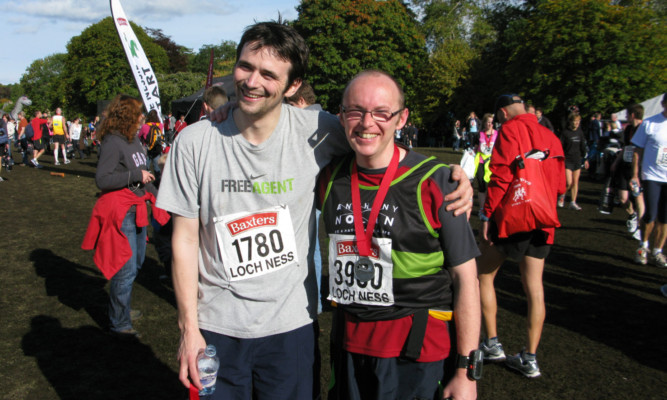 Michael Miller and Philip Milne at a previous marathon.