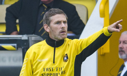 East Fife manager Gary Naysmith