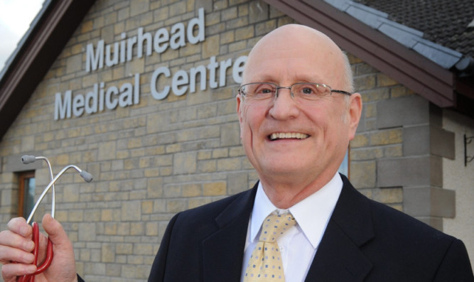 Dr David Wallace outside the Muirhead Medical Centre.
