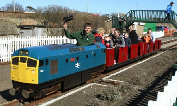 John Kerr at Kerr's Miniature Railway.