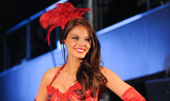 Miss Scotland Nicole Treacy on the catwalk.