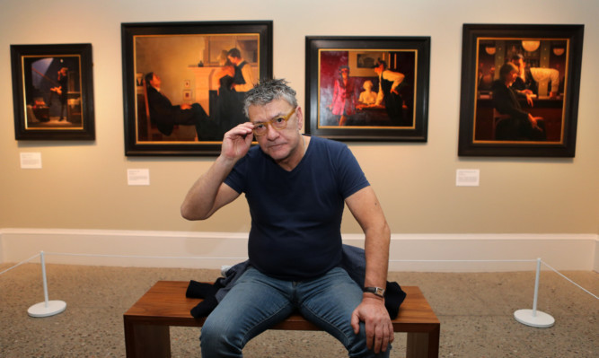 Jack Vettriano at the Kelvingrove Art Gallery in Glasgow.