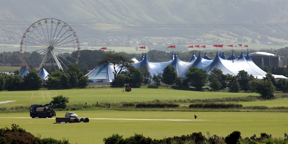 Steve MacDougall, Courier, T in the Park, Balado, Kinross. Extra picture showing the site prior to the event launch on Friday.