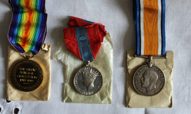 Some of the medals which Janice Kennedy found.