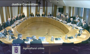 The Justice Committee gathered evidence on rural crime at Holyrood