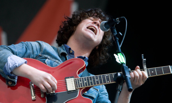 The View frontman Kyle Falconer at T in the Park in 2012.