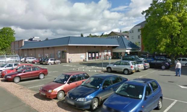 The supermarket in Town Green, Crieff.