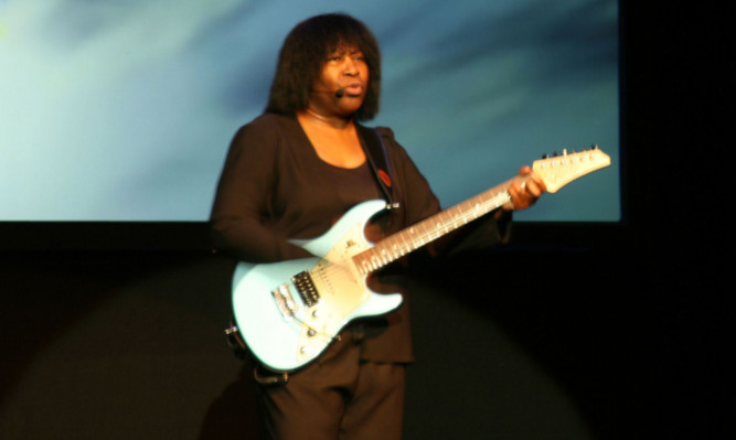 Joan Armatrading during her performance at the Webster Theatre in Arbroath.