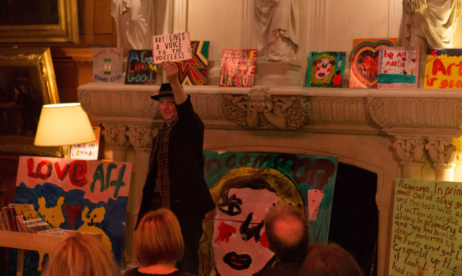 Art gives a voice to the voiceless  a public lecture given by Bob and Roberta Smith at Hospitalfield last year.