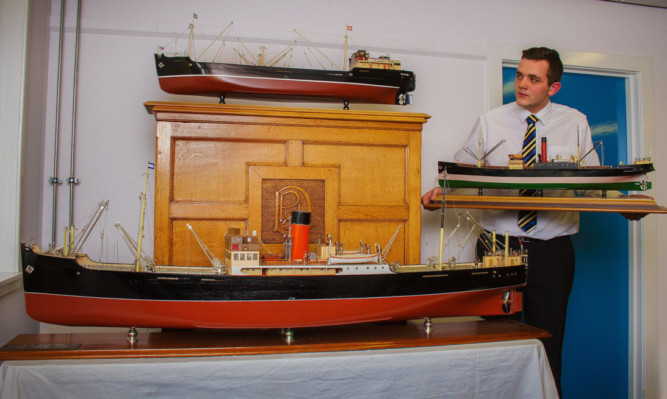 Models from the former DP&L building, including the SS Dundee in the foreground.