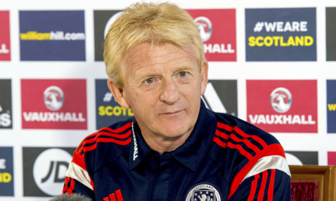 Scotland manager Gordon Strachan talks to the press ahead of his side's forthcoming International Challenge Match with Northern Ireland