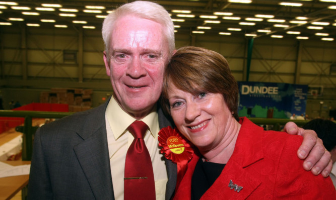 Dundee West MP Jim McGovern and wife Norma.