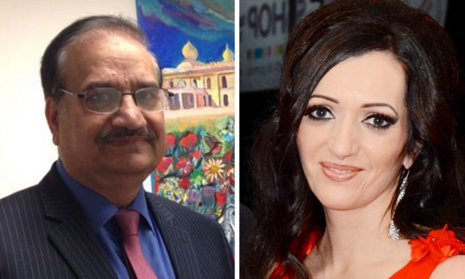 Tasmina Ahmed Sheikh (right) was described as a coconut and not a pure Pakistani by Mr Shoaib, who has left the SNP for the Labour Party.