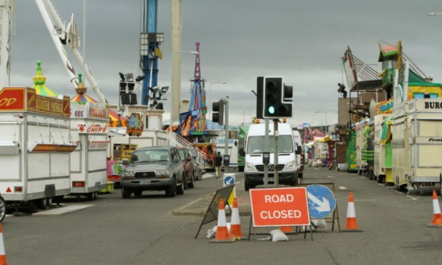 Kirkcaldy town centre is busier than usual due to the presenceof the Links Market