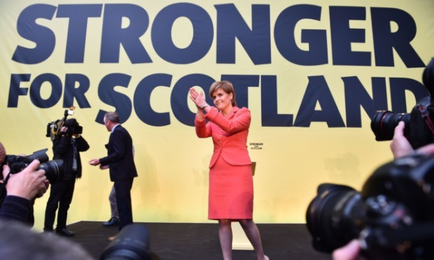 SNP leader Nicola Sturgeon at Monday's manifesto launch.