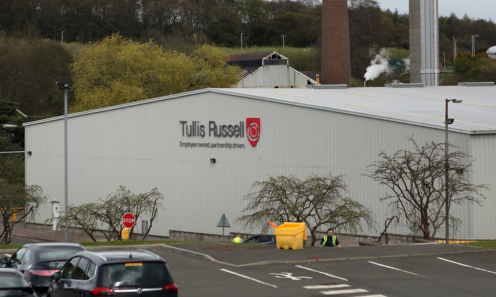 Kris Miller, Courier, 27/04/15. Picture today at Tullis Russell, Glenrothes where staff were told about the company going into administration with the loss of 325 jobs and more to follow. Pic shows general view of the site.