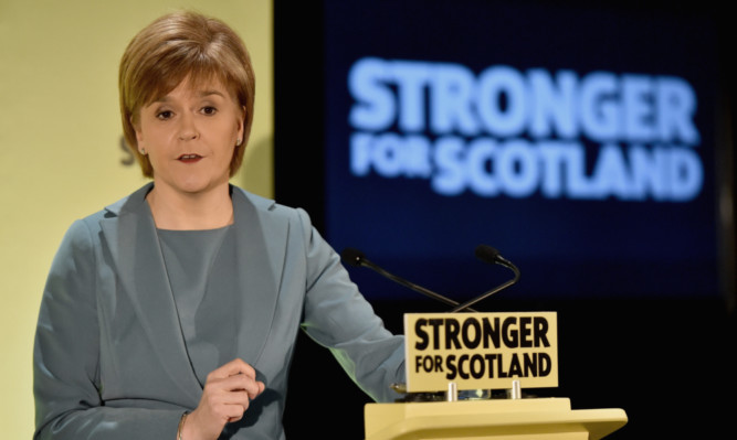 First Minister Nicola Sturgeon delivers a speech marking the start of the final week of campaigning in the run-up to the general election.