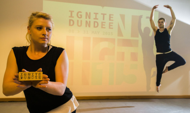 Students Glen McArtney and Katherine Whale gave a dance performance at the launch.
