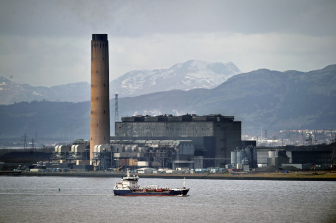 Longannet power station produces about 15% of the country's electricity capacity.