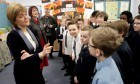 First Minister Nicola Sturgeon and Education Secretary Angela Constance meeting school pupils in Livingston.