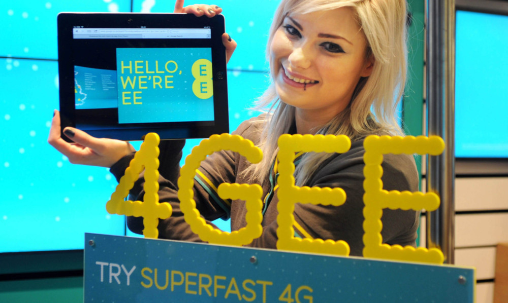 Senior sales advisor Tiffany Senn during the 4G EE launch at the EE store at Cabot Circus, Bristol. PRESS ASSOCIATION Photo. Picture date: Tuesday, October 30, 2012. EE, the UK's most advanced digital communications company, launches today, offering superfast internet at home and on the move. Photo credit should read: Barry Batchelor/PA