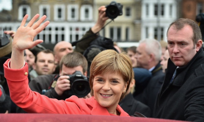Nicola Sturgeon marks the final day of campaigning in the general election with a speech to activists at the Mound in Edinburgh.
