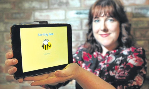 Jade Woodwards tablet app is intended to help teach children about tidying.