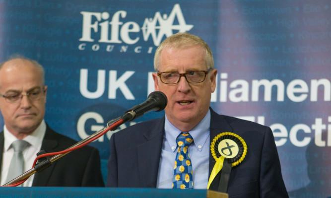Douglas Chapman gives his victory speech.