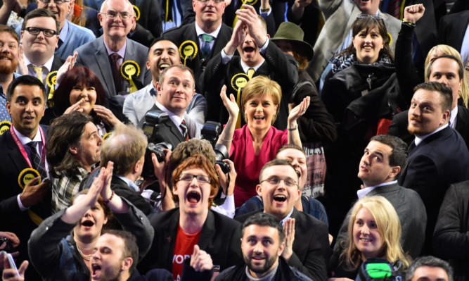Nicola Sturgeon urged caution when the exit poll emerged, but then watched as the SNP did indeed sweep to an overwhelming victory in Scotland.