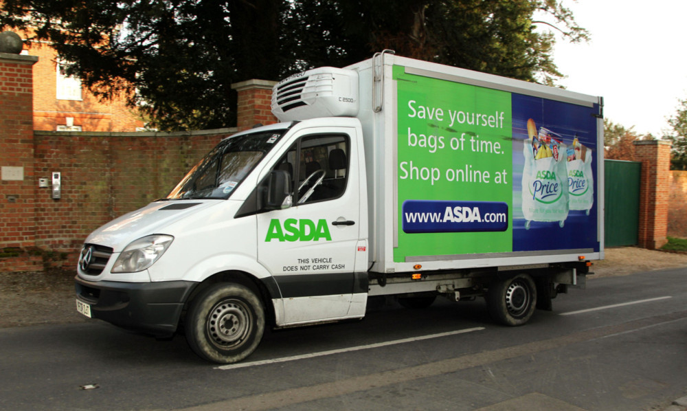 A view of an ASDA delivery van in Much Hadham, Hertfordshire. PRESS ASSOCIATION Photo. Picture date: Sunday March 25, 2012. Photo credit should read: Yui Mok/PA Wire
