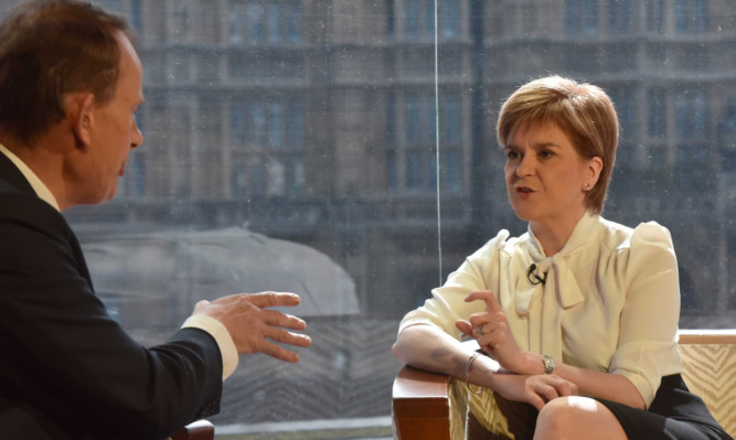 Nicola Sturgeon appearing on the Andrew Marr show on Sunday.